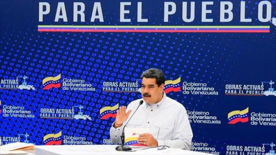 El presidente venezolano, Nicolás Maduro, ofrece un discurso en Caracas, la capital, 19 de junio de 2020.