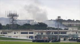 Arde almacén de materiales peligrosos en base de EEUU en Japón
