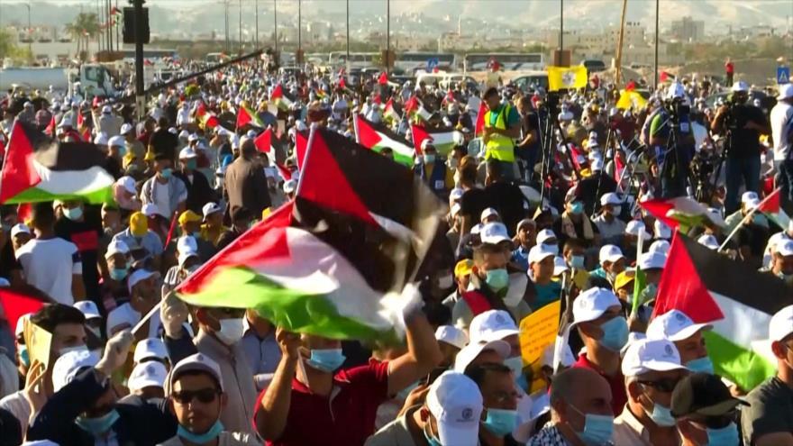 Palestinos protestan contra el nuevo plan expansionista israelí