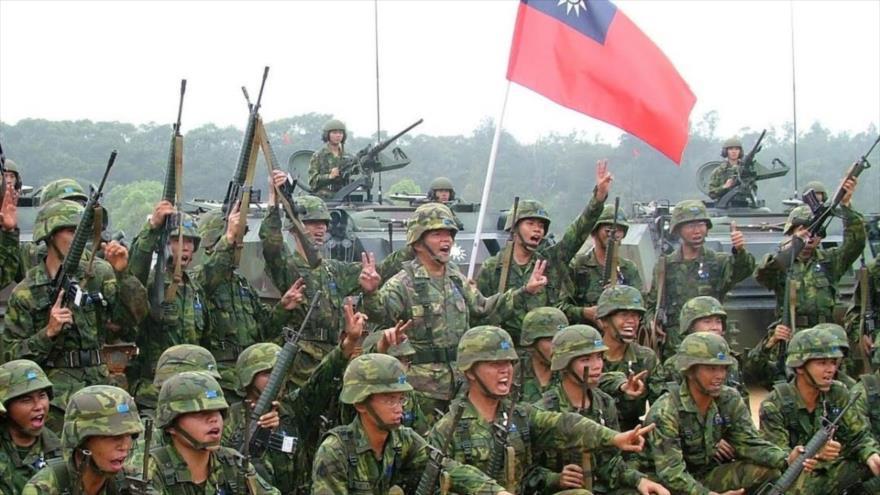 Soldados del Ejército de Taiwán durante unos ejercicios militares.