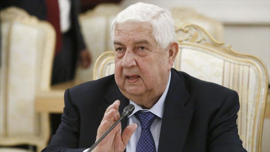 El ministro de Exteriores de Siria, Walid al-Moalem.