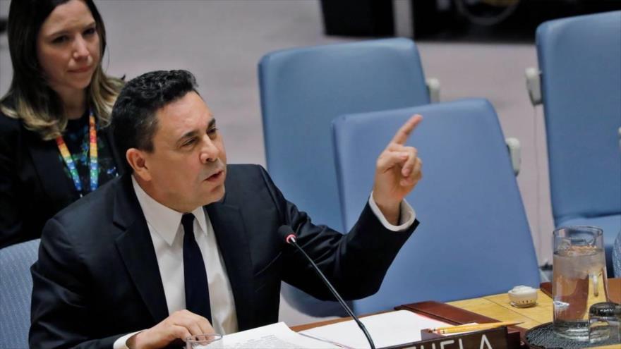 El embajador venezolano ante la Organización de las Naciones Unidas (ONU), Samuel Moncada.