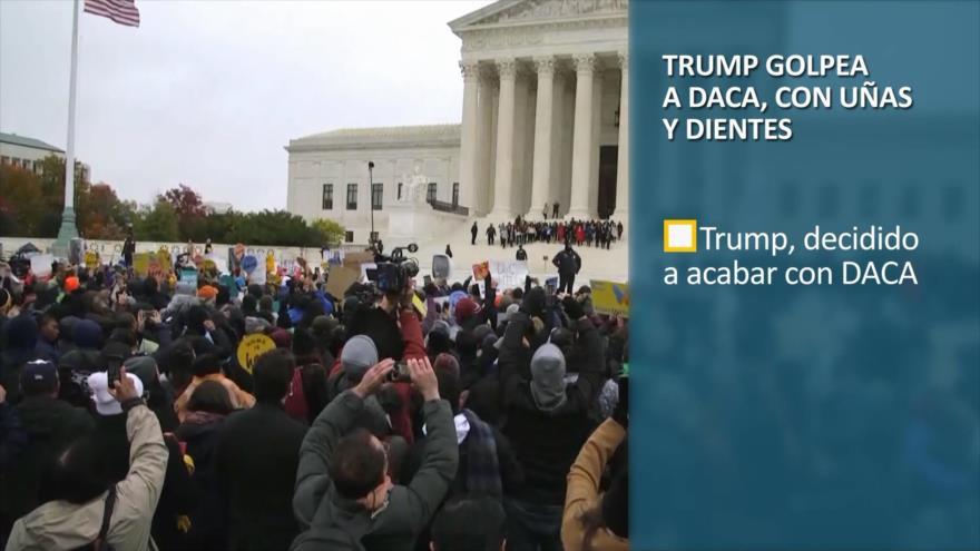 PoliMedios: Trump golpea a DACA, con uñas y dientes