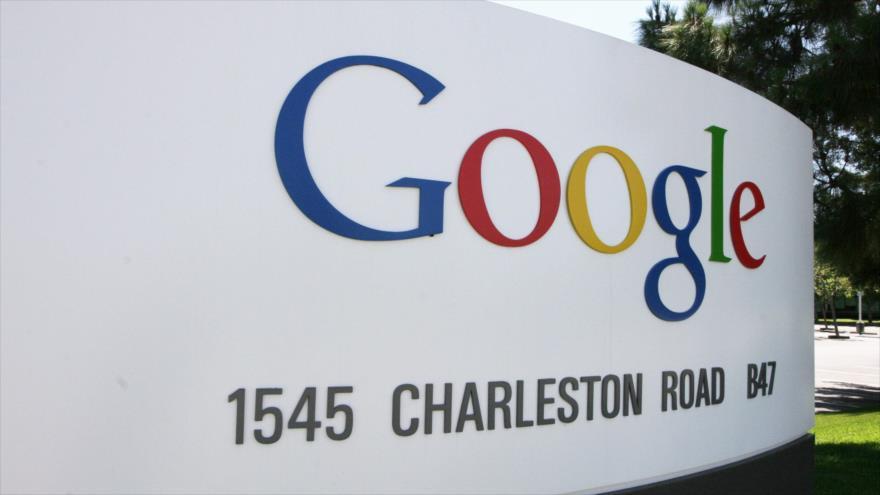 El logo de la compañía estadounidense Google en San Francisco, estado de California.