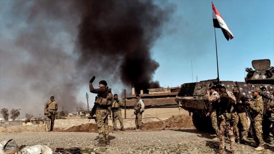 Soldados iraquíes durante una operación militar contra el grupo terrorista EIIL (Daesh, en árabe).