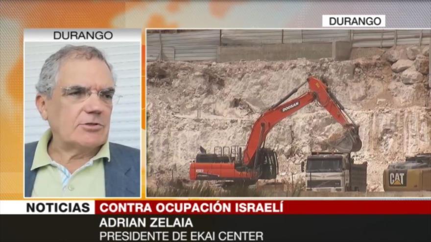 Zelaia: Israel no va a retroceder de la anexión de Cisjordania