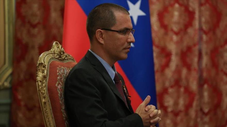 El canciller de Venezuela, Jorge Arreaza, en una reunión en Rusia, 24 de junio de 2020.