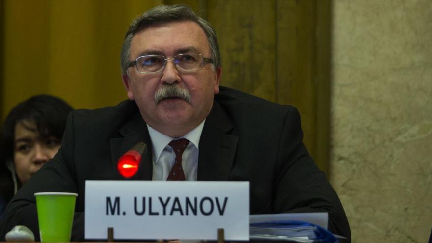 El representante permanente de Rusia ante las organizaciones internacionales radicadas en Viena (Austria), Mijaíl Ulianov.