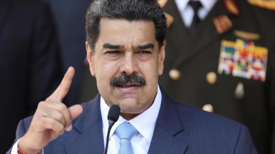 El presidente venezolano, Nicolás Maduro, ofrece un discurso en Caracas, la capital, 12 de marzo de 2020. (Foto Reuters)