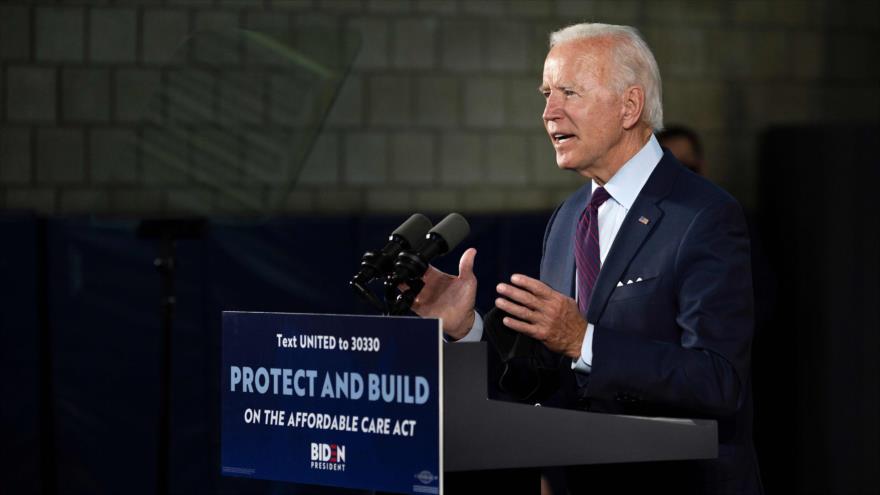 El candidato presidencial demócrata Joe Biden pronuncia un discurso, en Lancaster, Pensilvania, EE.UU., 25 de junio de 2020. (Foto: AFP)