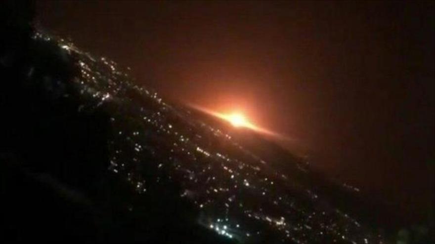 La explosión de un tanque de gas industrial en Teherán