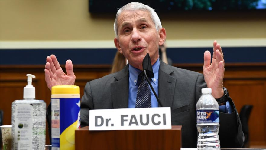 Anthony Fauci, el doctor que lidera el esfuerzo de la Administración de EE.UU. frente a la COVID-19, en Washington D.C, 23 de junio de 2020. (Foto: AFP)