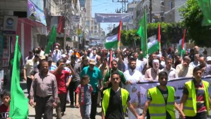 Palestinos protestan contra plan israelí de anexar Cisjordania