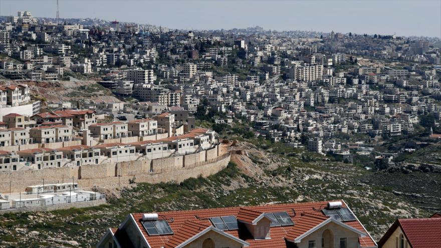 Vista general del asentamiento israelí de Efrat, en el sur de Beit Lahm (Belén), 12 de abril de 2019. (Foto: AFP)