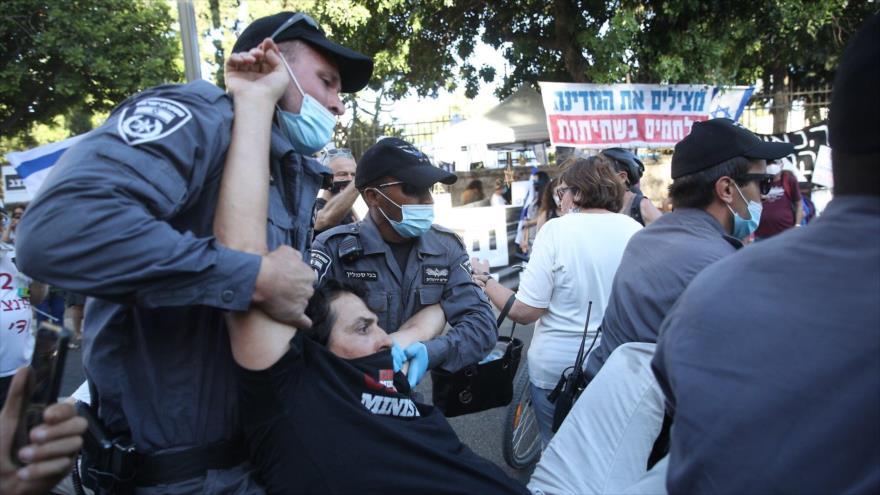 Vídeo: Israelíes protestan frente a la residencia de Netanyahu | HISPANTV