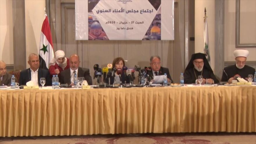 Damasco celebra conferencia sobre 'acuerdo del siglo' y Ley César
