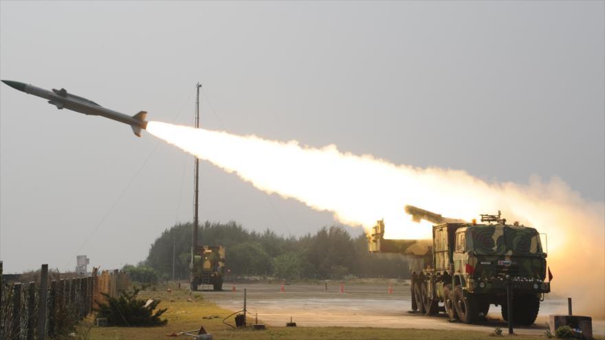 El sistema de misiles supersónico indio Akash.
