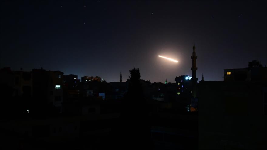 Defensa antiaérea de Siria repele agresión misilística de Israel