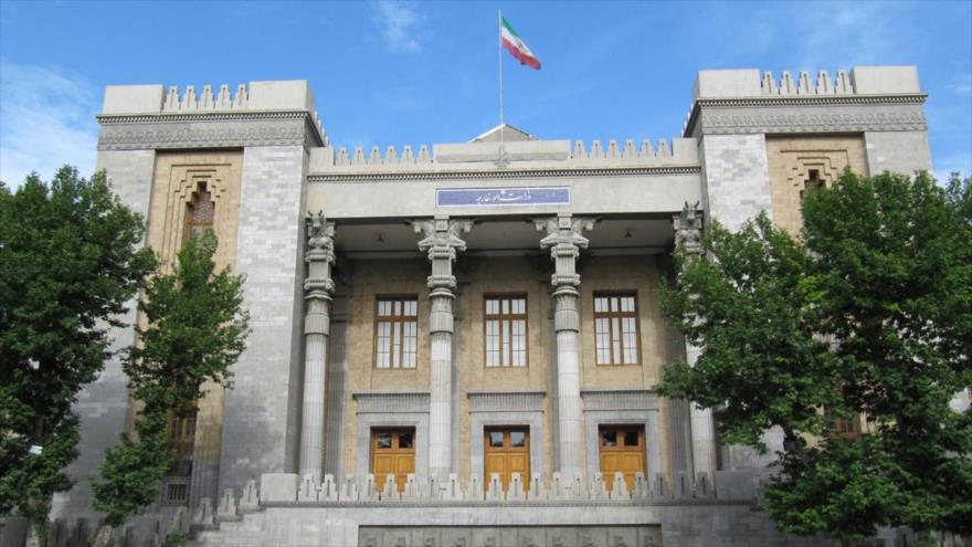 La fachada del edificio de la Cancillería iraní, situado en Teherán, la capital.