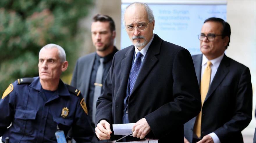 El representante permanente sirio ante las Naciones Unidas, Bashar al-Yafari.