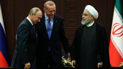 Rohani, Putin y Erdogan abordarán en una telecumbre la crisis siria
