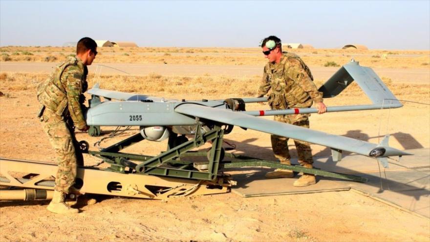 UN avión no tripulado de EE.UU., tipo RQ-7B, en Irak.