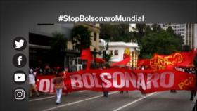 """Etiquetaje: """"Stop Bolsonaro"""", campaña mundial contra el presidente brasileño"""