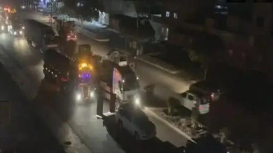 EEUU envía 30 camiones cisterna cargados con crudo robado sirio a Irak