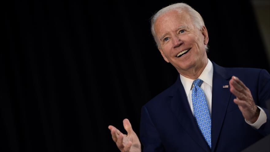 Joe Biden, candidato a la Presidencia por el Partido Demócrata, habla en una reunión en la ciudad de Wilmington, en Delaware, EE.UU. 30 de junio de 2020. (Foto: AFP)