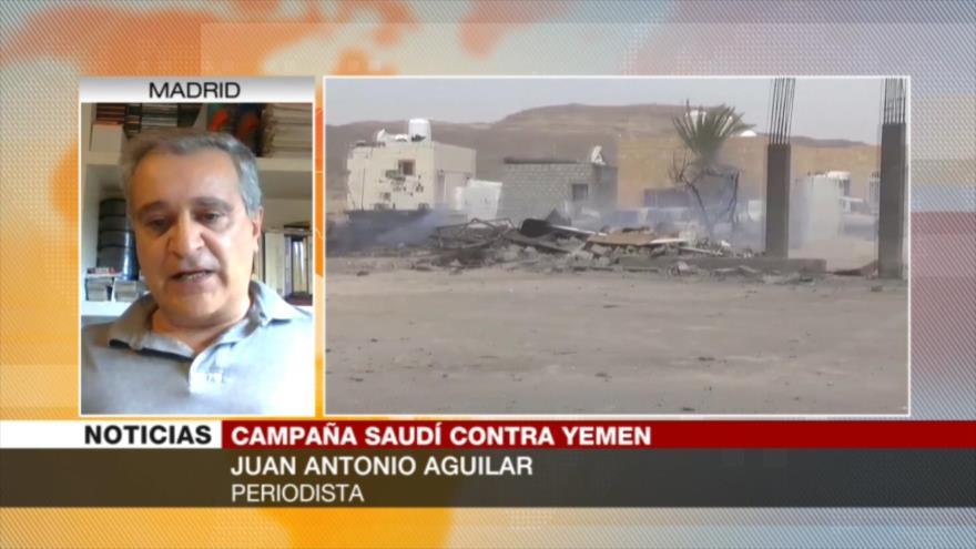 Aguilar: Comunidad internacional apoya crímenes saudíes en Yemen