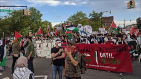 Vídeo: Protestan en Nueva York contra plan de anexión israelí