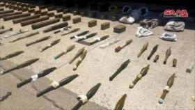 Siria confisca gran cantidad de armas a terroristas en Alepo