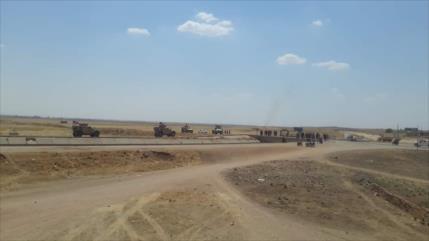 Vídeo: Ejército sirio interceptaconvoy militar de EEUU en Al-Hasaka