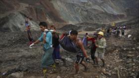 Fuertes imágenes: deslave en mina de Myanmar con 162 muertos