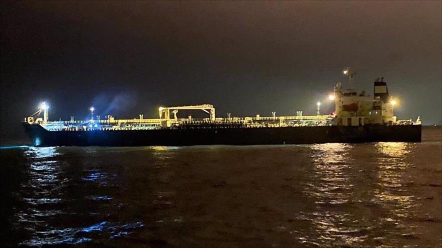 Buque cisterna iraní Fortune llega a Puerto Cabello, Venezuela, 25 de mayo de 2020.