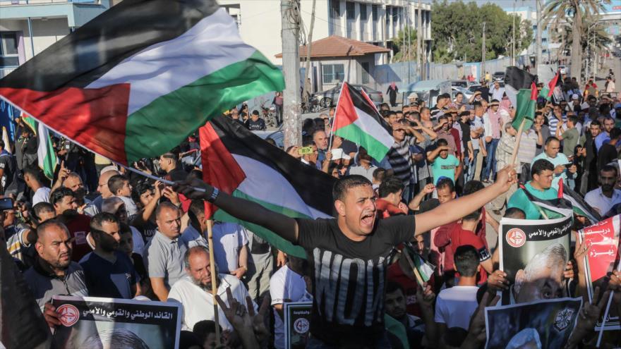 Palestinos protestan en Gaza contra anexión israelí en Cisjordania   HISPANTV