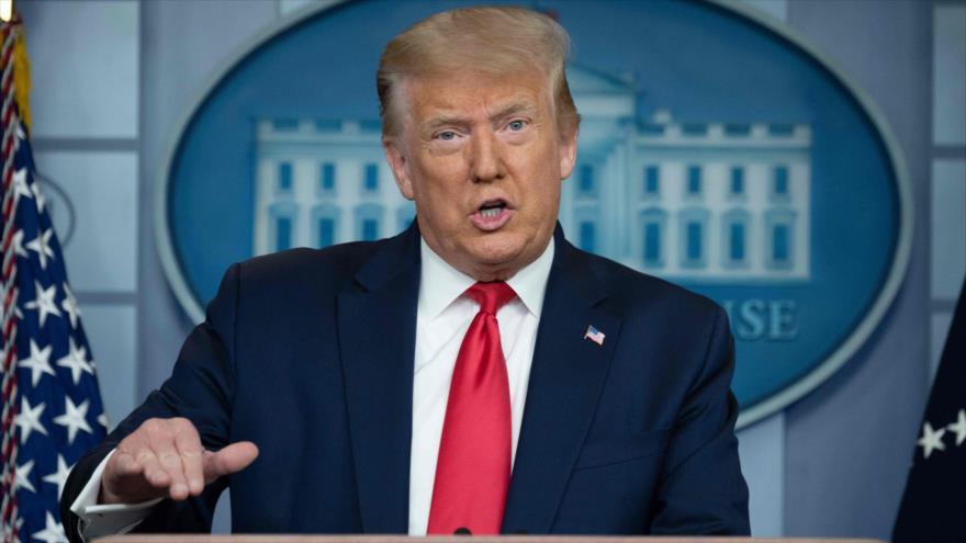 El presidente de EE.UU., Donald Trump, ofrece un discurso en la Casa Blanca, Washington, 2 de julio de 2020. (Foto: AFP)