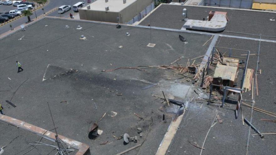 Un ataque de las fuerzas yemeníes contra un objetivo en Arabia Saudí.