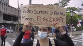 Panameños cuestionan primer año de mandato de Laurentino Cortizo