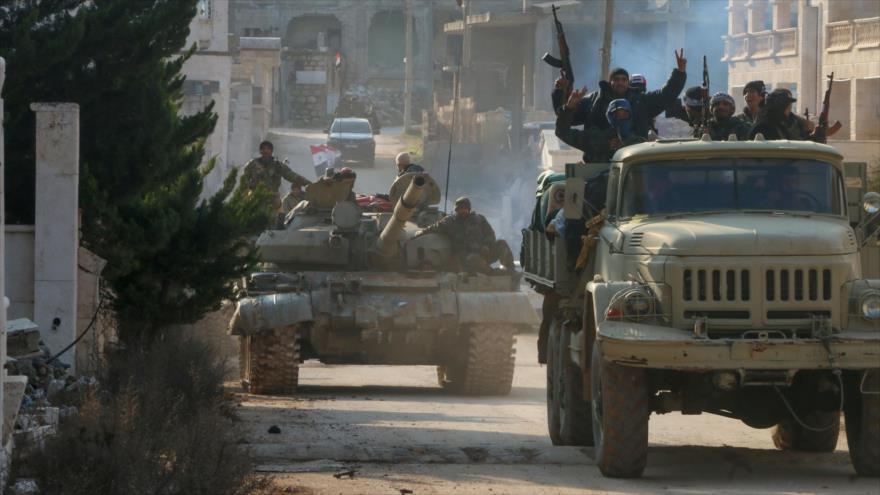 Fuerzas sirias en la provincia norteña de Alepo, 17 de febrero de 2020. (Foto: AFP)