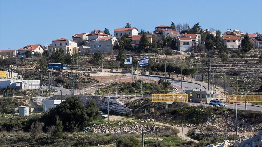 El asentamiento israelí de Neve Daniel, en la Cisjordania ocupada, visto desde las tierras de cultivo palestinas cercanas.