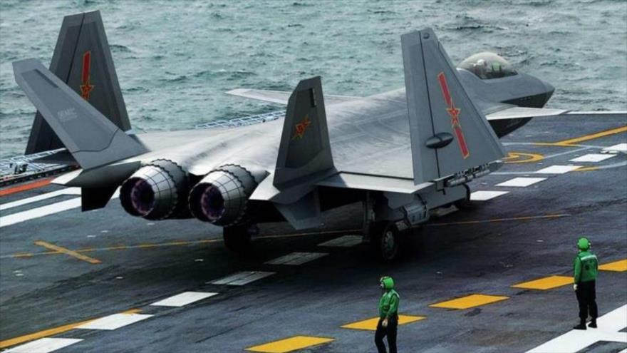 Caza furtivo J-20, de fabricación china.