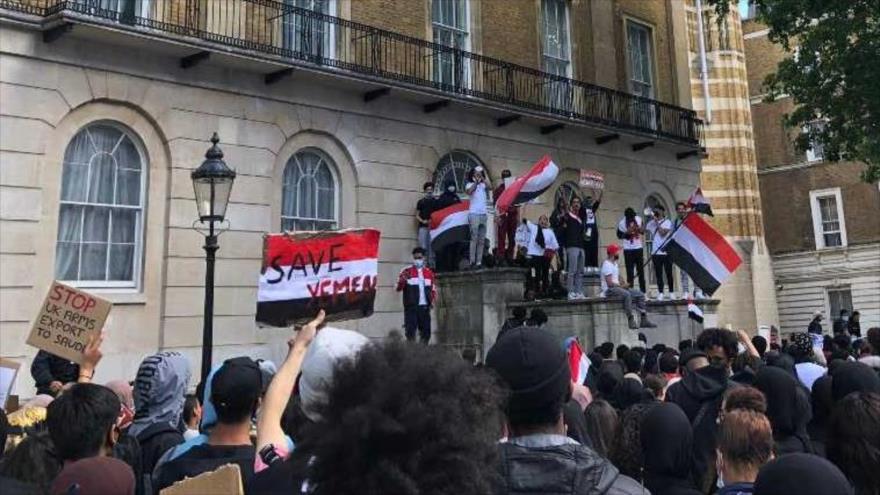 Británicos exigen fin de apoyo de Londres a agresión saudí a Yemen