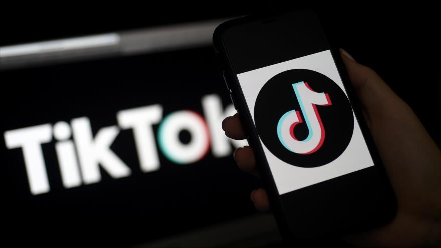 El logo de la aplicación china TikTok.