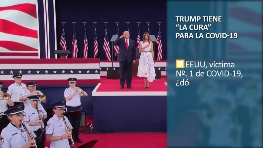 """PoliMedios: Trump tiene """"la cura"""" para la COVID-19"""
