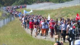 Protestan en Alemania y Francia por despidos en Airbus