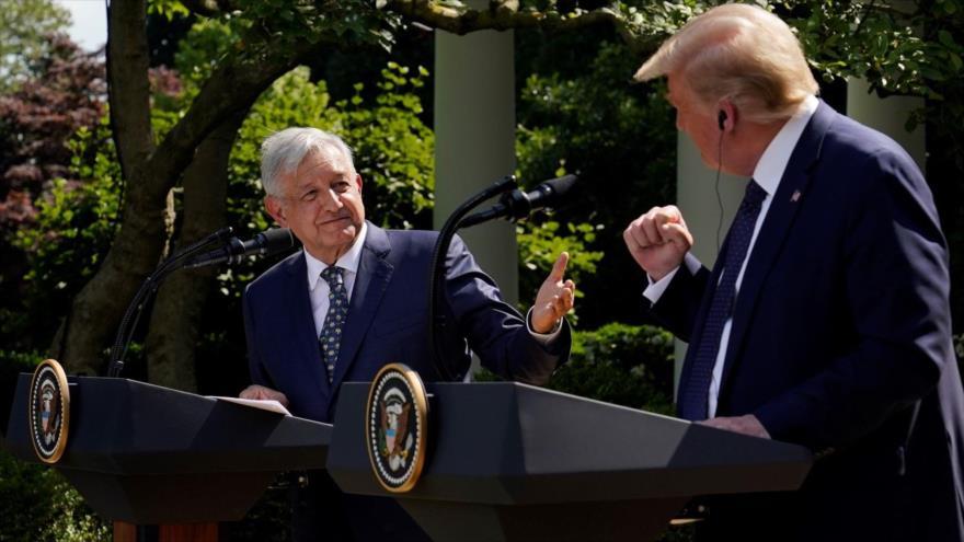 López Obrador visita a Trump y le agradece su trato con México
