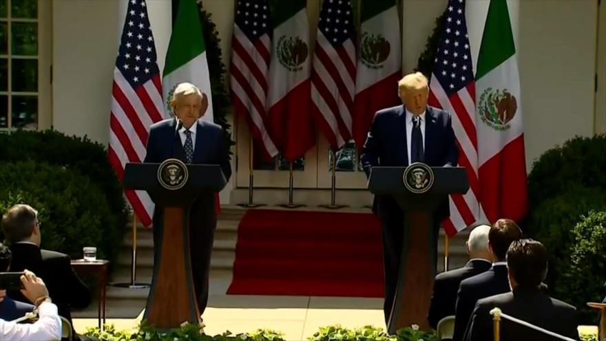 Migrantes rechazan visita de López Obrador a Trump   HISPANTV