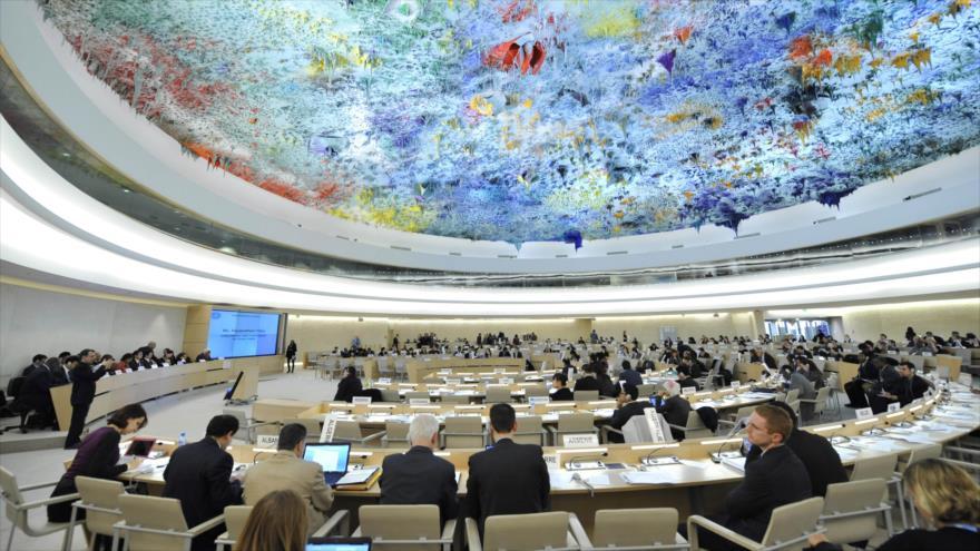 Una reunión del Consejo de Derechos Humanos de las Naciones Unidas (CDHNU), en Ginebra (Suiza).