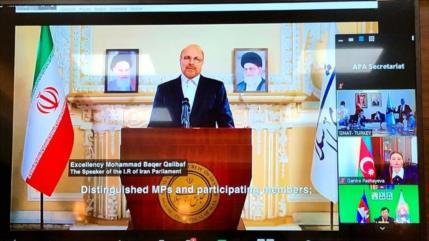Jefe del Parlamento iraní insta a poner fin a las sanciones injustas